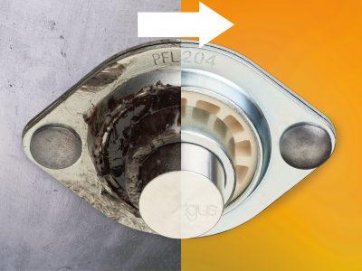 igubal spherical bearings with sheet metal housings